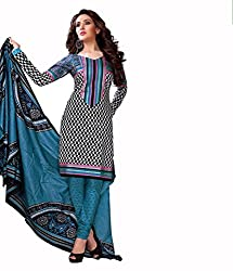 Neerja creation womens cotton Unstiched Dress material(K-1006_Black)