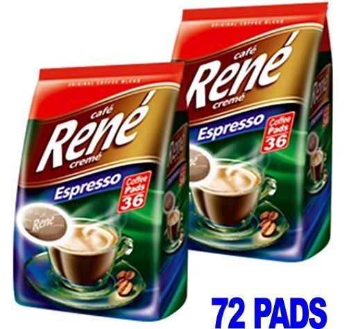 Choose Philips Senseo 72 x Cafe Rene Cremé Espresso Roast Coffee Pads Pods Bags - CAFE-RENE