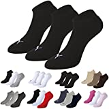 Puma Sports Socks - Unisex Invisible Sneakers 3P - Three Pair Packs Of Plain/Mix, UK Sizes 2.5 to 14