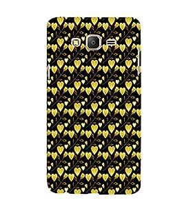 EPICCASE golden leaves of heart Mobile Back Case Cover For Samsung Galaxy E7 (Designer Case)