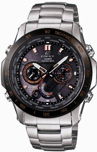 Casio EDIFICE Orange Arrow Series - Solar Tough MVT - Multiband 6 Radio Controlled Men's Watch EQW-T1010DB-1A5JF (Japan Import)