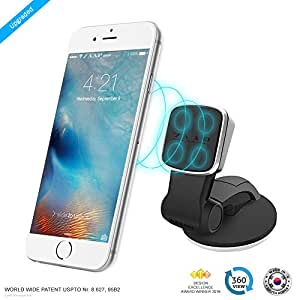 ZAAP MAGNETIC TOUCH TWO (3rd Generation) Premium Car Desk Mount/Car mobile holder compatible for Smartphones with 360 degree rotation & fully adjustable view