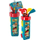 Disney Jake And The Neverland Pirates 12pc Kids Golf Set with Clubs and Caddy