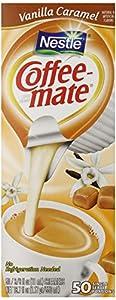 Coffee-mate Coffee Creamer, Vanilla Caramel Liquid Creamer Singles, 3/8 Fluid Ounce (Pack of 50)