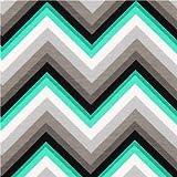 Tela de punto rayas zig-zag verde esmeralda Robert Kaufman
