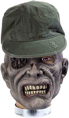 Forum Novelties Zombie Mask with Hat, Sarge