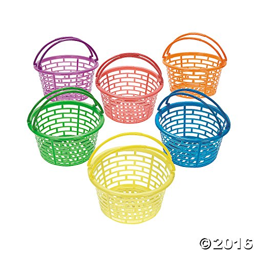 Buy Cheap PLASTIC BRIGHT ROUND BASKETS (1 DOZEN) - BULK