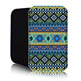 AZTEC Pattern [Blue] Nokia Lumia 820 (L) Shock Resistant Neoprene Mobile Phone Case, Cover, Pouch