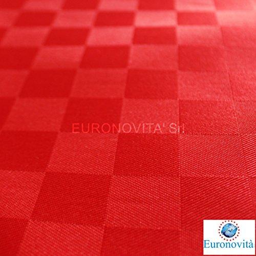 Tovaglia Antimacchia Idrorepellente Oleorepellente 140x160 vari colori (Rosso)