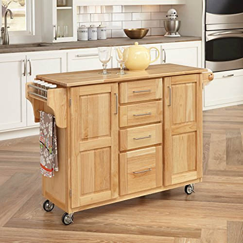 Home Styles 5089-95 Kitchen Center with Breakfast Bar, Natural Finish