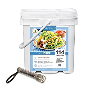 114 Servings Emergency Freeze Dried Ground Beef by Ready Project