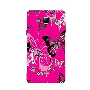 PINK BUTTERFLY DESIGN BACK COVER FOR SAMSUNG A8