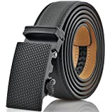 Marino Mens Genuine Leather Ratchet Dress Belt with Automatic Buckle Medium