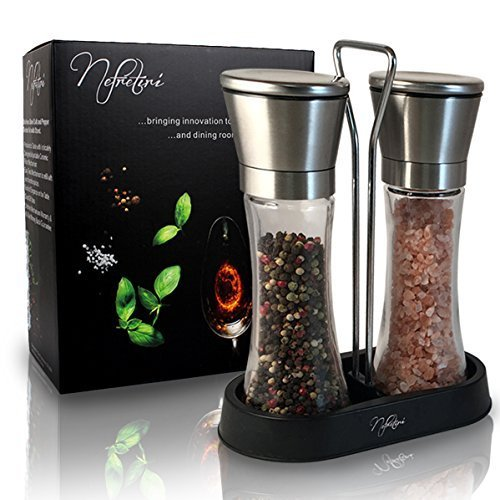 salt-pepper-grinder-set-stainless-steel-pepper-mill-salt-mills-shakers-with-stand-great-gift-idea