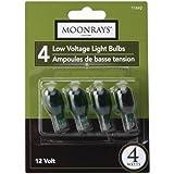 Moonrays 11692 4-Watt Wedge Base Light Bulbs, 4 Pack (Green)