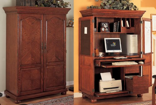 computer armoire with pocket doors. Black Bedroom Furniture Sets. Home Design Ideas