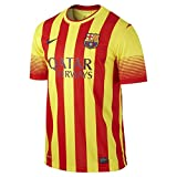 FC Barcelona Away Soccer Jersey 2013/14 - Red/Yellow (L)