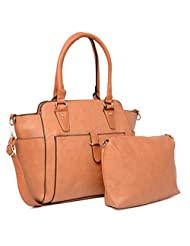 ADISA B1568 TAN Womens PU Handbag