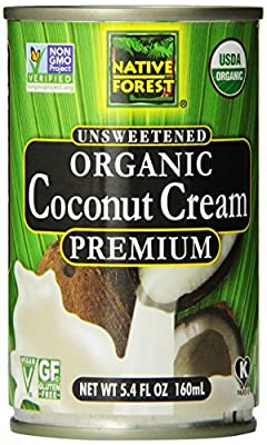 Native Forest Organic Premium Coconut Cream, Unsweetened, 5.4 Ounce (Pack of 12) by Edward & Sons