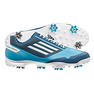 adidas Men's Adizero One Golf Shoe,Solarmet/White/Tribe Blue,10 M US
