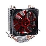 upHere Intel/AMD両CPU対応 サイドフロー型CPUクーラー 赤いLED インテルCPU専用 PWM仕様 静音