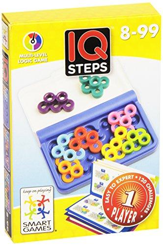 Smart Games - IQ-Step, juego de ingenio de viaje con retos progresivos (SG499)