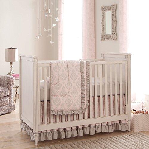 Carousel Designs Paris Script Crib Rail Cover • Baby