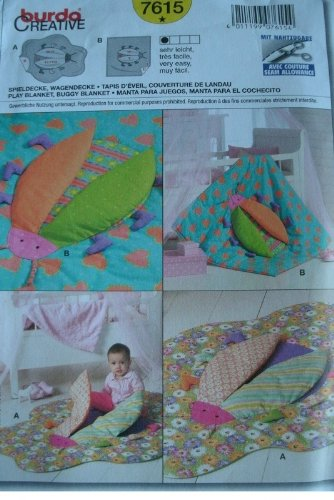 Ladybug Play Blanket - Wings And Feet Lift Up - Infant - Toddler Burda Creative Pattern 7615 Rated Very Easy To Sew front-670065