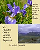 img - for My Favourite Quotes : Volume 1 - Ability to Argument book / textbook / text book