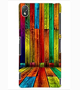 ColourCraft Colouful Bars Design Back Case Cover for SONY XPERIA Z3