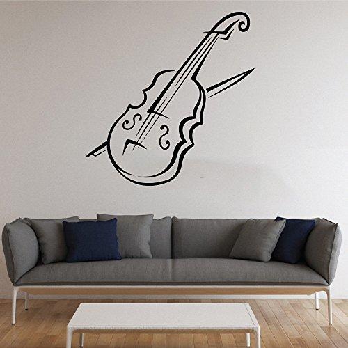 chadme strumento musicale violino in vinile da parete Musica Adesivi da Parete in Vinile Adesivo da parete per decorazione per soggiorno