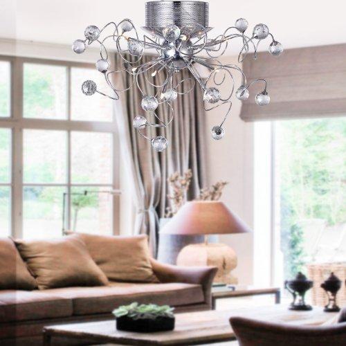 AuBergewohnlich ALFRED® Moderne Kristall Kronleuchter Mit 9 Leuchten, Unterputz  Deckenleuchte Befestigung Für Flur, Eingang, Speisezimmer, Wohnzimmer Kaufen