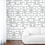 DeStudio Oval Square Tile Chalkboard Wall Decal, Size LARGE & Color : WHITE