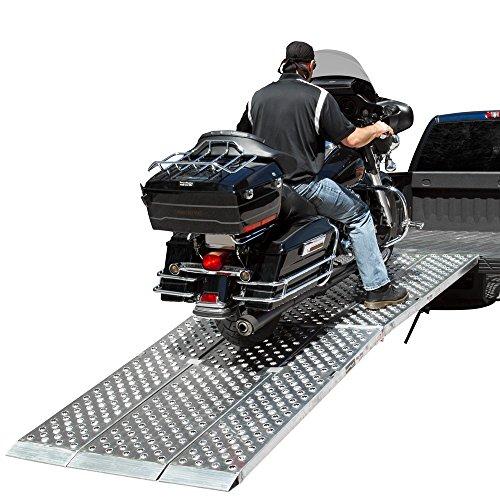 8-ft-Folding-3-pc-EZ-Rizer-Aluminum-Motorcycle-Loading-Ramp-System