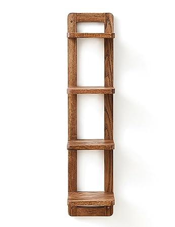 TH Scaffale a parete in legno massello con inserti in multistrato da parete in legno massiccio del Nord Europa ( Colore : Colore Antico , dimensioni : Style-2 )
