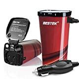 BESTEK Tasseförmiger KFZ Wechselrichter 200W mit 2 USB Anschlüsse + Zigarettenanzünder-Adapter - Best Reviews Guide