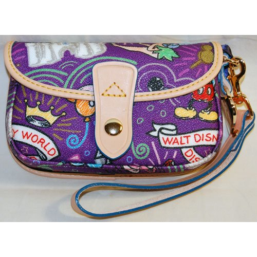 Disney Dooney & Bourke Sketch Wristlet Purse  Purple
