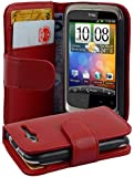 Cadorabo ! HTC Wildfire (NOT FIT Wildfire S) Etui Housse Book Style in rouge