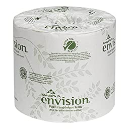 Georgia-Pacific Envision 19885 White 2-Ply Embossed Bathroom Tissue, (WxL) 4.000\