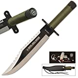 Amazon Jungle Survival Knife with Sheath