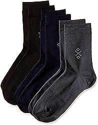 Arrow Men's Plain Knee-high Socks (Pack of 3) (8904135547886_Multicoloured)