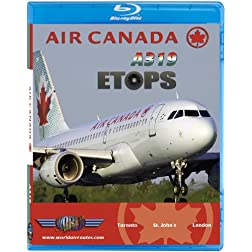 Air Canada Airbus A319 ETOPS to London Heathrow [Blu-ray]