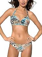 Esotiq Sujetador de Bikini Real (Beige)
