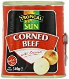 Tropical Sun Corned Beef Onion Halal 340 g (Pack of 12)