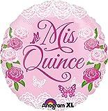 Anagram International Mis Quince Swirls Foil Balloon, 18