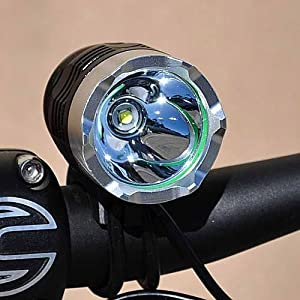 Ledwholesalers High Output 1200 Lumen Bike Light or Headlight with Lithium Battery, Charger and Mounting Kit