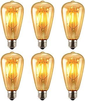 6-Pk. Antique Oak Leaf 4w Dimmable Light Bulb