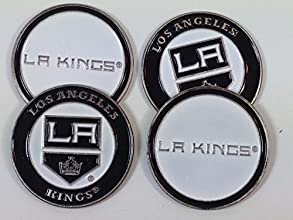 Los Angeles Kings Four 4 Golf Ball Markers - 2 sided