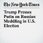 Trump Presses Putin on Russian Meddling in U.S. Election | Julie Hirschfeld Davis,Glenn Thrush