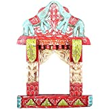 APKAMART Hand Crafted Jharokha Wall Hanging - 18 Inch - Elephant Design - Handicraft Decorative Showpiece For...